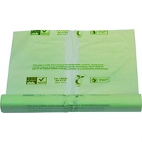 Click for a bigger picture.Compostable Bin Liners - Light Green 80 litre 29x39 inch 725x850mm 400 per case