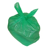 Click for a bigger picture.Refuse Sacks - Green 18x29x39 inch 180g 200 per case