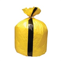 Click for a bigger picture.Clinical Tiger Sacks - Yellow 18x29x36 inch 200 per case